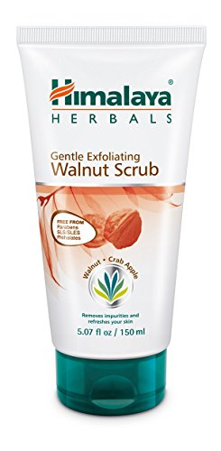 Herbal Scrub - Himalaya Gentle Exfoliating Walnut Facial Scrub for Oily Skin, Free from Parabens, SLS/SLES and Phthalates 5.07 oz (150 ml)