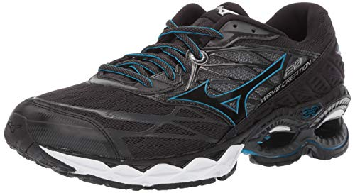 Mizuno Men's Wave Creation 20 Running Shoe, Black 12 D US