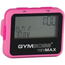 Gymboss miniMAX Interval Timer and Stopwatch - PINK/PINK SOFTCOAT