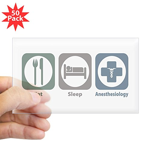 CafePress - Eat Sleep Anesthesiology Rectangle Sticker 50 Pk) - Sticker (Rectangle 50 pk)