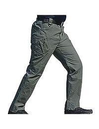 Trkee Pants,Men,Work Cargo,Outdoor,Lightweight,Loose,Pockets,Men Waterproof Work Cargo Long Pants with Pockets Loose Trocaers