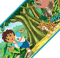 Go Diego Go Wall Paper Border Self Adhesive