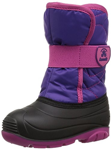 Kamik baby-girls' SNOWBUG3 Snow Boot, Purple/Magenta, 8 Medium US Toddler - Kids Magenta Apparel