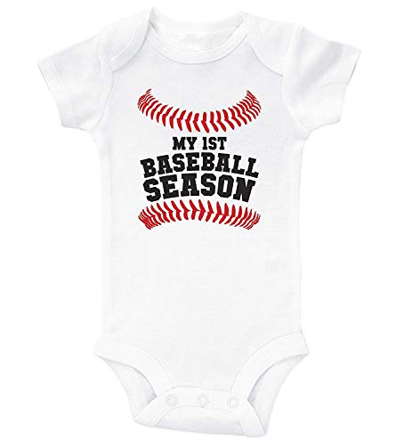 Baseball Baby Bodysuit - My First Baseball Season/Infant Romper Bodysuit -