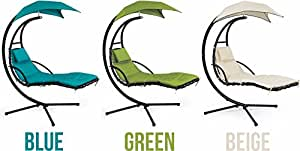 Barton Patio Hanging Helicopter dream Lounger Chair Stand Swing Hammock Chair (Beige)