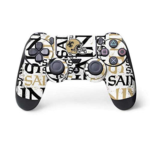 Saints Orleans New Controller (Skinit New Orleans Saints - Blast PS4 Controller Skin - Officially Licensed NFL Gaming Decal - Ultra Thin, Lightweight Vinyl Decal Protection)