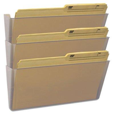 Storex 70229U06C Wall File, Legal 16 x 14, Three Pocket, Clear