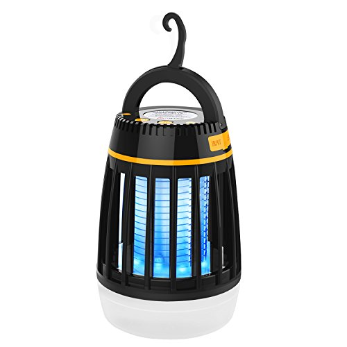 Amagoing Bug Zapper Outdoor, 3 in 1 Camping Lantern & Mosquito Killer & Power Bank - Waterproof Camping Gear Accessories - Rechargeable Mosquito Zapper Light