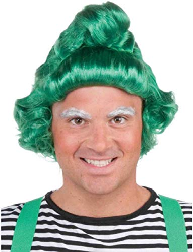 Mens Womens Green Costume UMPA Lumpa St Patricks Day Elf Wigs ()