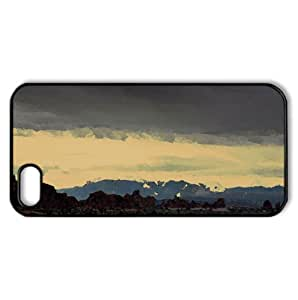 Mountain Landscape Watercolor style Cover iPhone 5 and 5S Case (Landscape Watercolor style Cover iPhone 5 and 5S Case)