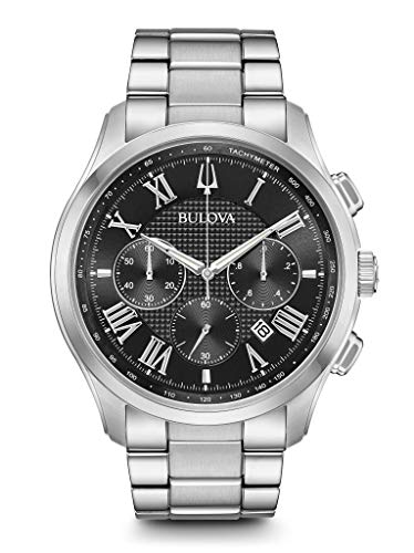 BULOVA Black Stainless Steel Watch-96B288