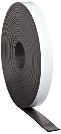 """Flexible Magnet Tape - 1/16"""" thick x 1"""" wide x 100 feet (1 roll)"""