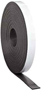 1//2Inch x 25Feet Magnum Magnetics Corp Adhesive Magnetic Strip