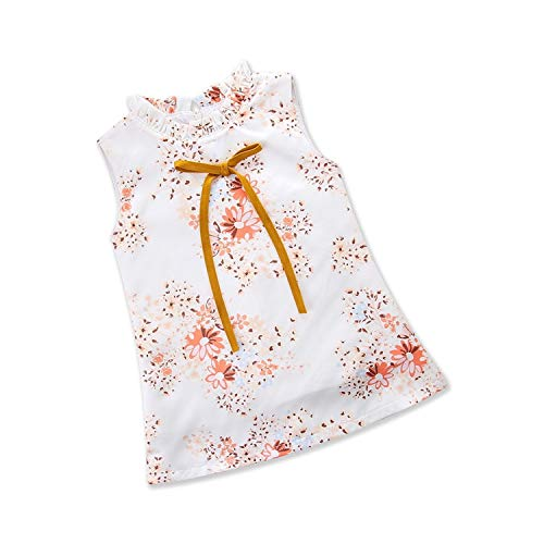 LittleNaNa-Cloth-childrenscostume Summer Baby Girls Flower Dress Kids Cheongsam Summer Chinese Style Princess Clothes,White,6
