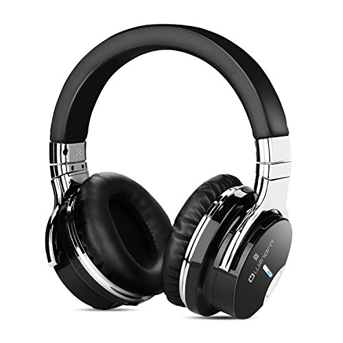 Price comparison product image Willnorn Walker6 Wireless Active Noise Cancelling Bluetooth Headphones with Hi-Fi Sound,  Microphone,  NFC,  36-Hour Playtime … (black)