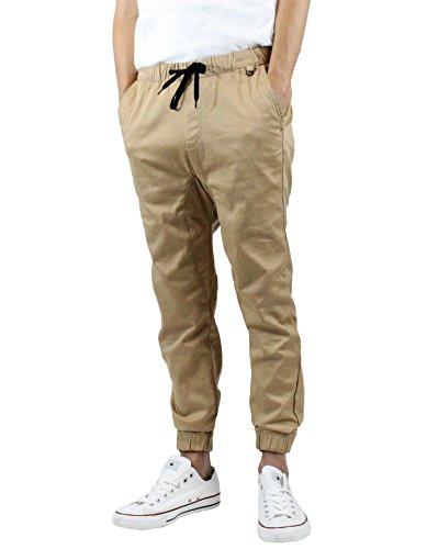 Kayden K Men's Cuff Stretch Harem Fit Jogger Pants khaki 32 (Medium, Khaki #2)