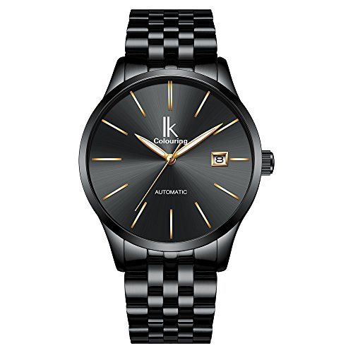 GOHUOS Men's Stainless Steel Auto Date Automatic Self Wind Mechanical Wrist Watches