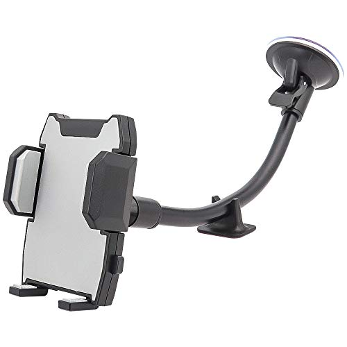 Kolasels Long Arm Cell Phone Holder for Car, Windshield Phone Holder with Shock Absorption Design for iPhone 11/Xs/Xr/X/8 Plus/8/7/6, Samsung Note 10+/10/9/8/7, HTC, LG and More Cell Phones