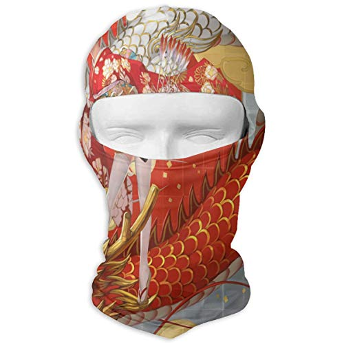 Balaclava Japanese Dragon Full Face Masks Ski Mask Motorcycle Hood For Cycling Sports Snowboard (Driver Headcover Dragon)