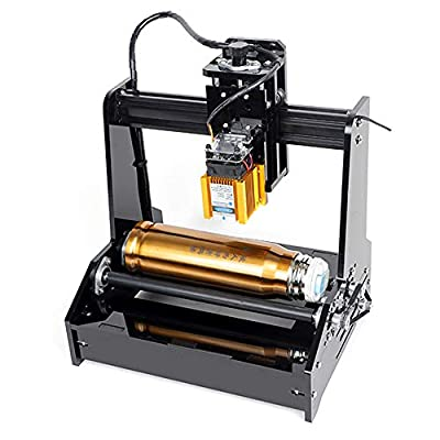 Uttiny DIY Cylindrical Laser Engraver, 15W USB Laser Engraving Printer with Working Area 100 x 200 mm On Cans Stainless Steel Cola Bottles for Win7, Win8, Win10, WinXP