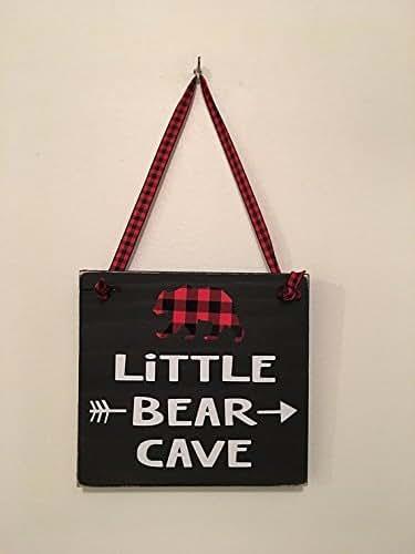 Amazon Com Black Little Bear Cave Buffalo Plaid