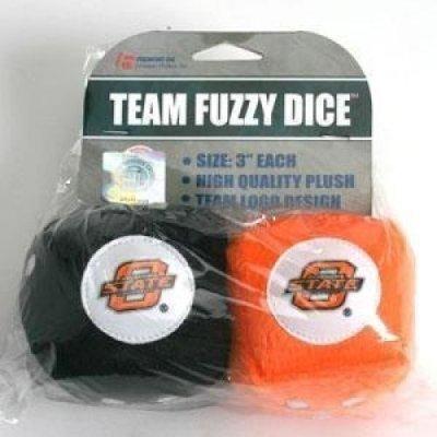 NCAA Oklahoma State Cowboys Football Team Fuzzy Dice, Orange