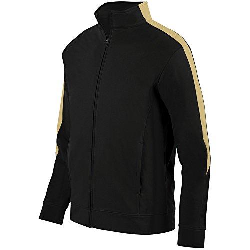 Augusta Sportswear Men's Medalist Jacket 2.0 L Black/Vegas Gold ()