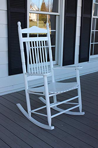 (Dixie Seating Calabash Wood Rocking Chair No. 467SRTA White)