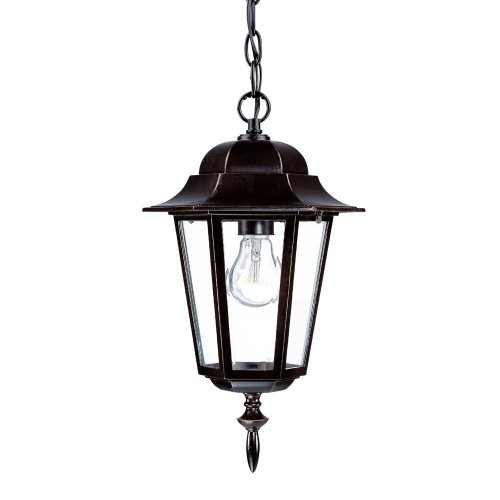 Acclaim 6116ABZ Camelot Collection 1-Light Outdoor Light Fixture Hanging Lantern, Architectural Bronze