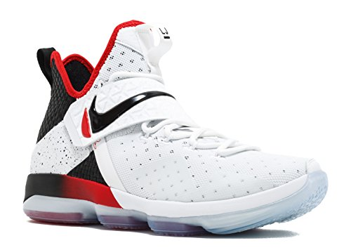 NIKE Lebron XIV Mens Basketball Shoes 852405 (11 M US, White/Black/University Red)
