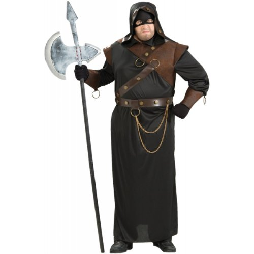Forum Novelties Men's Medieval Executioner Costume, Black/Brown, Plus Size