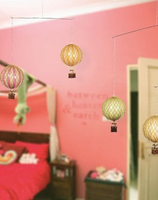 Authentic Models Hanging Mobile Pastel Hot Air Balloon ()