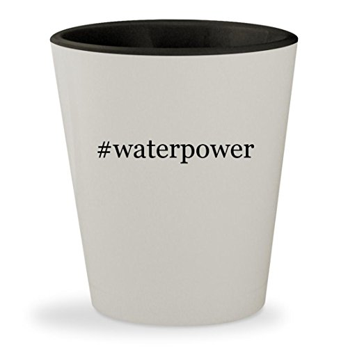 Price comparison product image #waterpower - Hashtag White Outer & Black Inner Ceramic 1.5oz Shot Glass