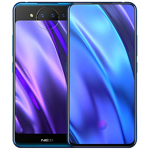 Original Vivo Nex Dual Screen 10G+128GB Mobile Phone Android Snapdragon 845 Octa Core 3D TOF Night Vision Screen Fingerprint Support Google by-(Real Star Technology) (Ice Field Blue Flagship)