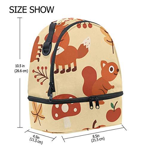 Dibujos De Animales Alinlo Diseño Aislamiento Para Correa Animados Bolsa Ajustable Almuerzo El Hombro Con Yw50qxWR0F