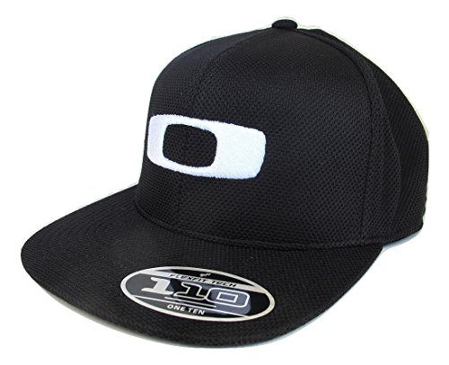 (Oakley Men's Square O-Flex Snapback Hat Cap - Black)