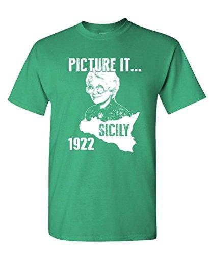 PICTURE SICILY golden Cotton T Shirt