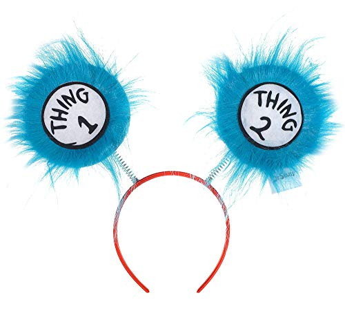 Costumes USA Thing 1 and Thing 2 Head Bopper for Kids, Dr. Seuss Costume Accessories, One -