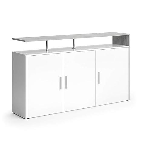 Vicco Sideboard Amato Kommode Schrank Weiß Anrichte Fernsehschrank TV (Weiß  Beton)