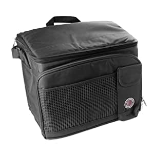 """Transworld Durable Deluxe Insulated Lunch Cooler Bag (Many Colors and Size Available) (13 1/2""""x10""""x10"""", Black)"""