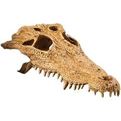 Exo Terra Crocodile Skull Terrarium Decor Hideout for Reptiles and Amphibians