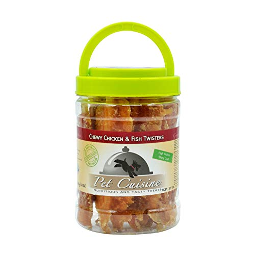(Pet Cuisine Dog Treats Puppy Chews Training Snacks,Chewy Chicken & Fish Twisters,12 oz)