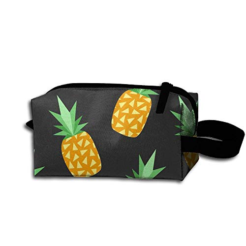 King Fong Print Juicy Pineapple-Tumblr-iPhone-Wallpaper-Wallpapers-Tumblr Makeup Bags for Men/Women, Travel Toiletry Bag, Oxford Pencil Case with Unique Big Wristband