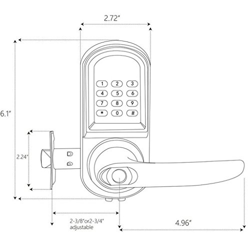 Baoblaze Electronic Digital Keyless Code Door Lock Unlock With Code And Mechanical Keys for Home Hotel Entry Security by Baoblaze (Image #3)