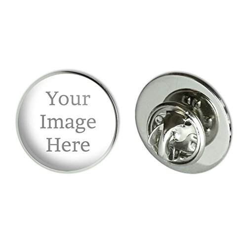 Graphics and More Self-eez(TM) Custom Personalized Small Round Lapel Hat Pin Tie -