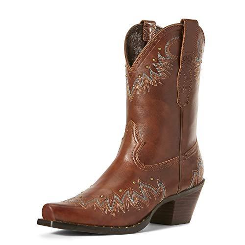 ARIAT Women's Potrero Western Boot Antique Nutmeg Size 8.5 B/Medium Us