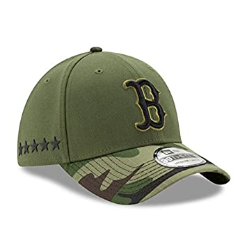 separation shoes 03183 b1407 Image Unavailable. Image not available for. Color  Boston Red Sox New Era  2017 Memorial Day 39THIRTY Flex Hat - Green Camo (