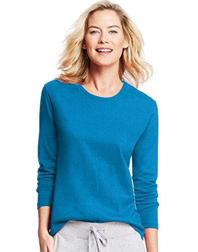 Hanes Women's Long-Sleeve Crewneck T-Shirt_Deep ()