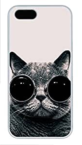 WMSHOPE? iPhone 6 Case Cover OR FOR S PC CAT WITH GLASSES
