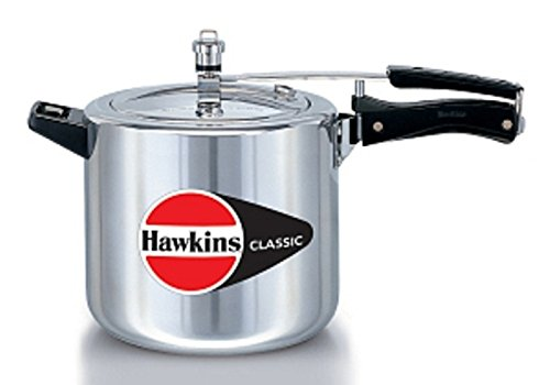 Hawkins CL66 6.5-Liter Classic New Improved Aluminum Pressure Cooker with Separator, Small, Silver
